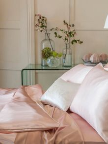 Gingerlily Rose silk bed linen