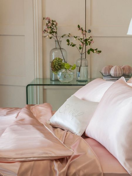 Gingerlily Rosa silk king fitted sheet