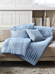 Gingerlily Louis blue silk bedspread