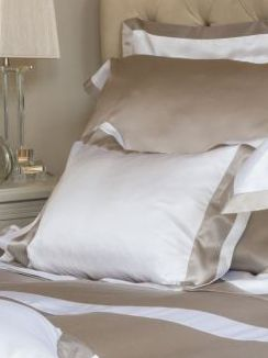 City Beige Silk Cotton Bed Linen