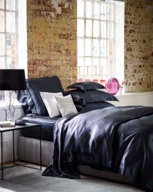 Gingerlily Charcoal silk bedding range