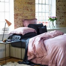 Gingerlily Charcoal Silk Bed Linen range