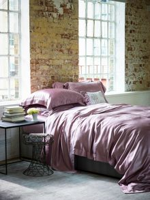 Gingerlily Silk superking duvet cover pink
