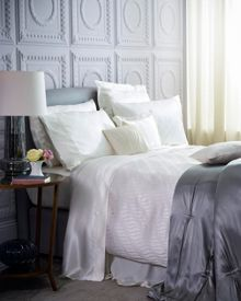 Gingerlily Pearls Ivory Silk Bed Linen range