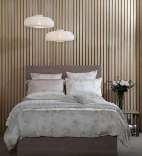 Gingerlily Windsor silk bedspread range in Nude