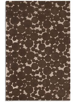 Bubbles rug in Chocolate 150 x 230