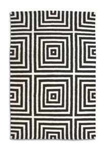 Plantation Rug Co. Frankie 100% Wool Rug range - Black