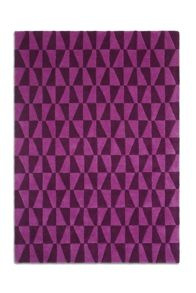 Geometric Purple Wool Range