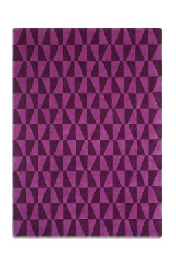 Plantation Rug Co. Geometric 100% Wool Rug Range - Purple