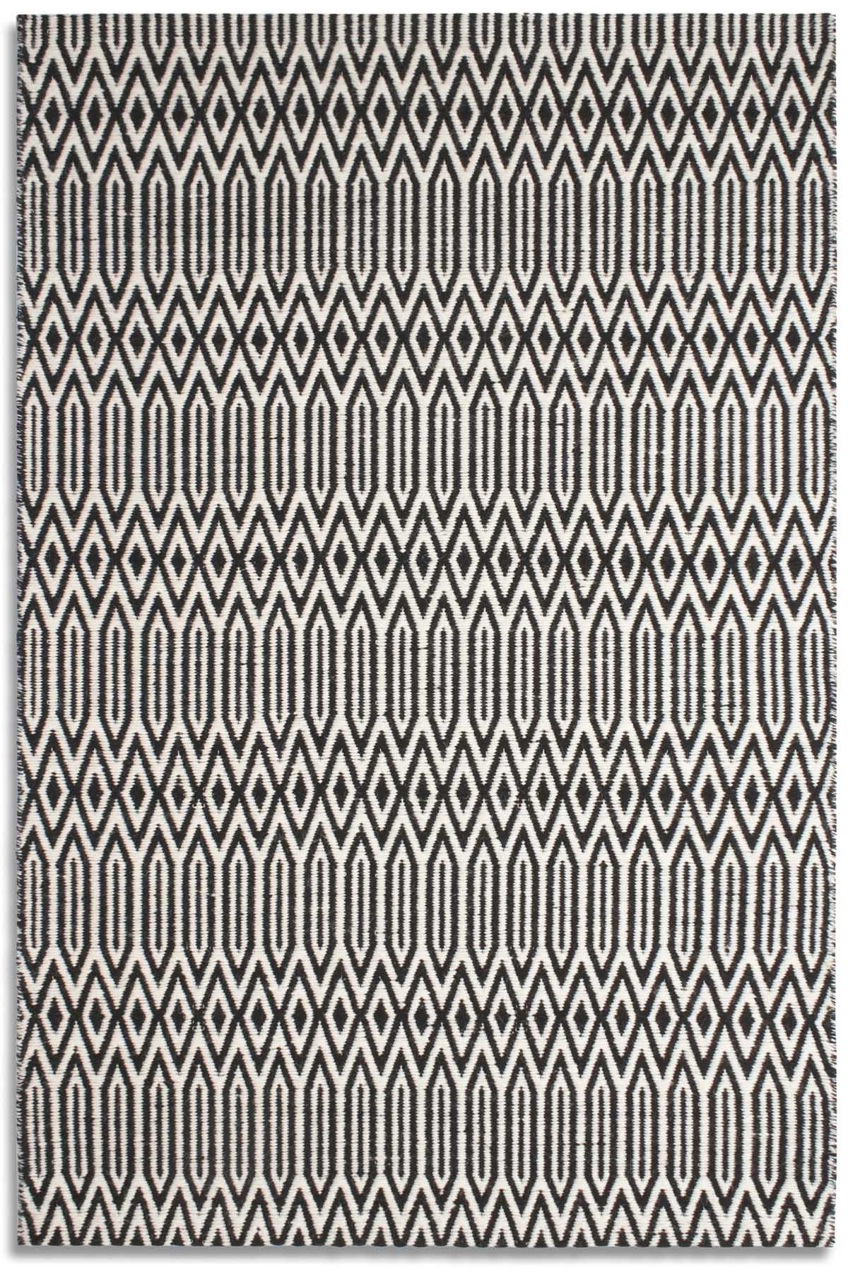 Serengeti black white rug range