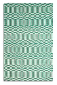 Plantation Rug Co. Serengeti emerald white rug range
