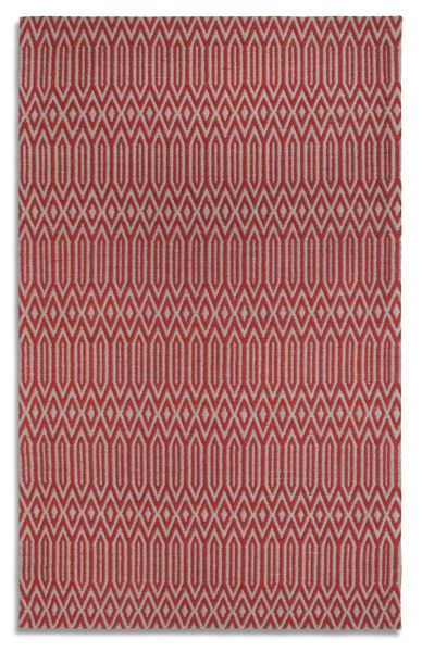 Plantation Rug Co. Serengeti 100% Wool Rug - 120x170 Wine/Grey