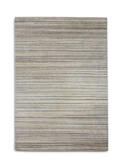 Simply Natural 100% Wool Rug -120x180 Grey Stripe