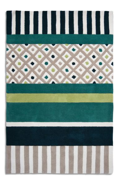 Plantation Rug Co. Undecided rug in lime/green 150 x 230