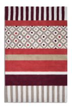 Plantation Rug Co. Undecided rug in beige/maroon 120 x 170