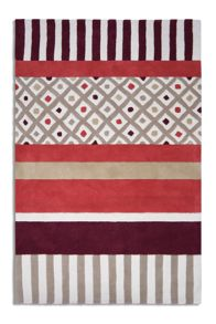 Undecided Rug in Maroon/Beige