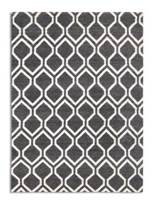 Plantation Rug Co. Medina Flat Viscose Rug Range - Black