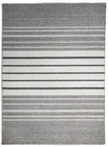 Plantation Rug Co. Greyscale 100% Wool Stripe Rug Range