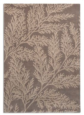 Plantation Rug Co. Leaf 100% Wool Rug Range - Grey/Beige