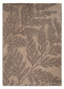 Plantation Rug Co. Leaf 100% Wool Rug Range - Beige/Grey