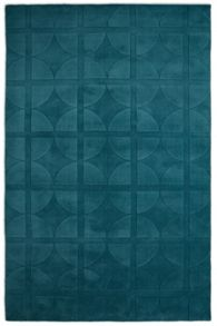Plantation Rug Co. Universal Teal 100% Wool Rug Range
