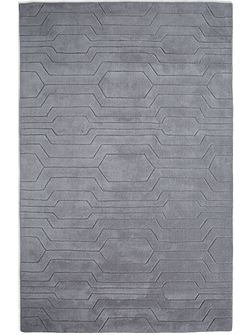 Circuit 100% Wool Rug - 120x170 Light Grey