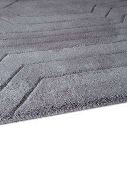 Plantation Rug Co. Circuit Light Grey 100% Wool Rug Range