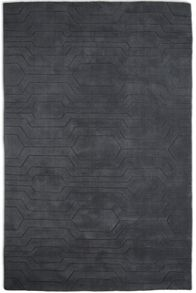 Plantation Rug Co. Circuit Dark Grey 100% Wool Rug Range