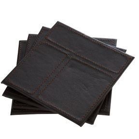 Inspire Faux leather tablemats in brown