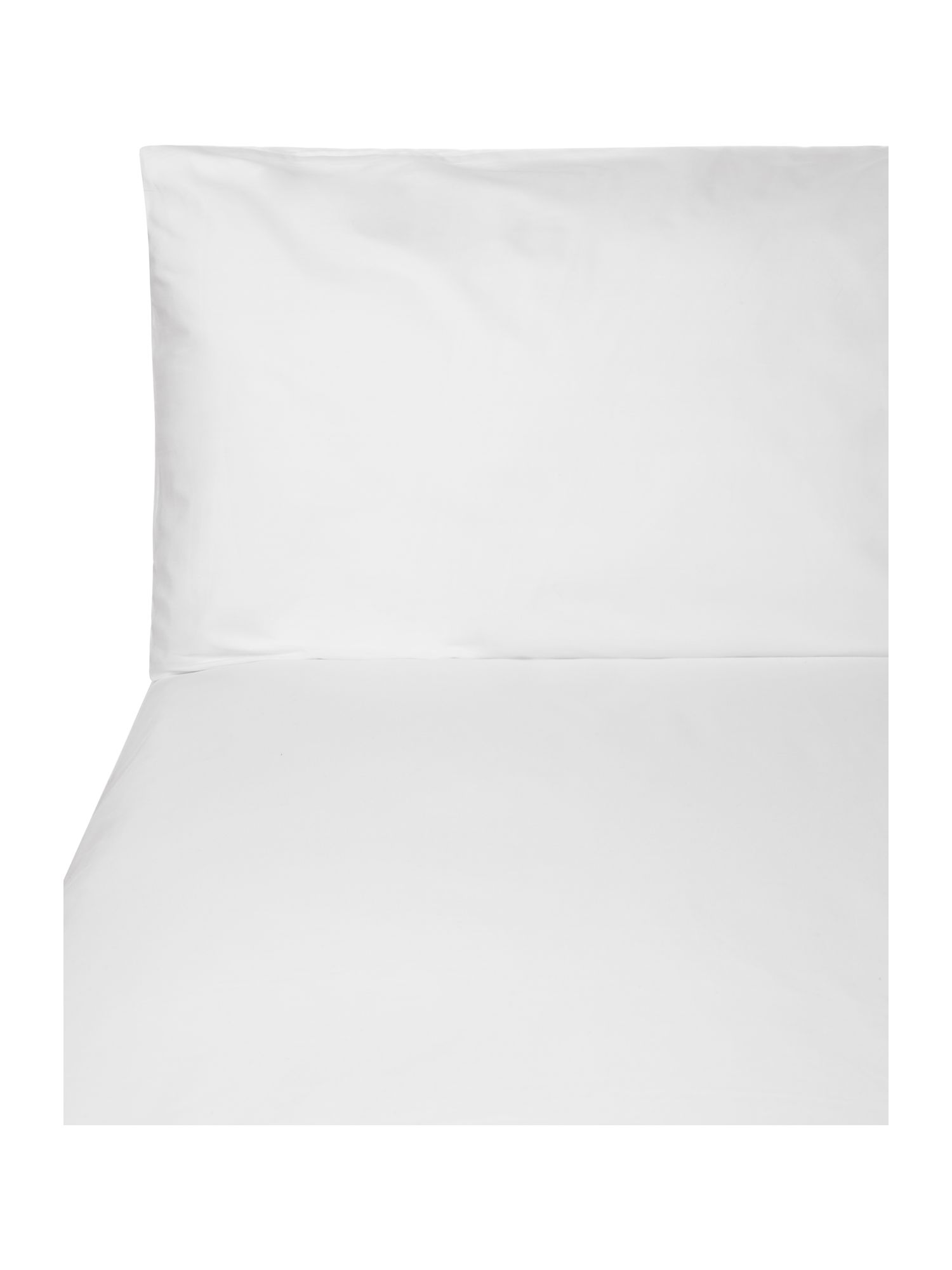 100% cotton percale bed linen in white