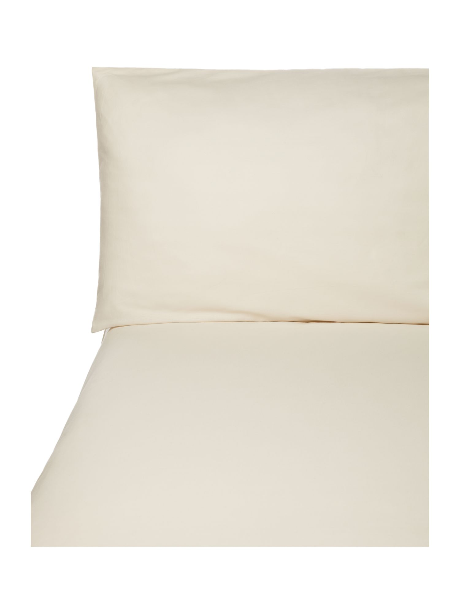 100% cotton percale bed linen in Ivory