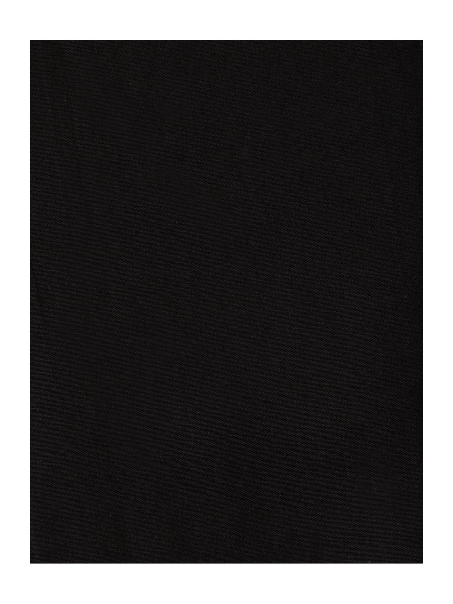 100% cotton percale bed linen in black