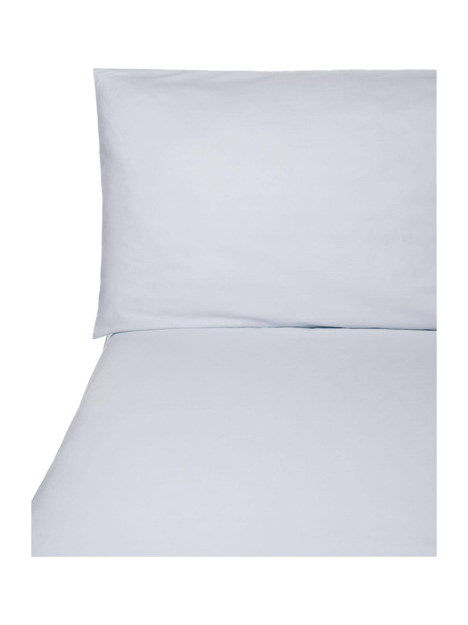 100% percale bed linen in duck egg