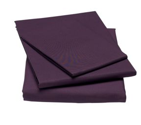Linea 100% cotton percale bed linen in Purple