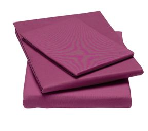 Linea 100% cotton percale bed linen in pink