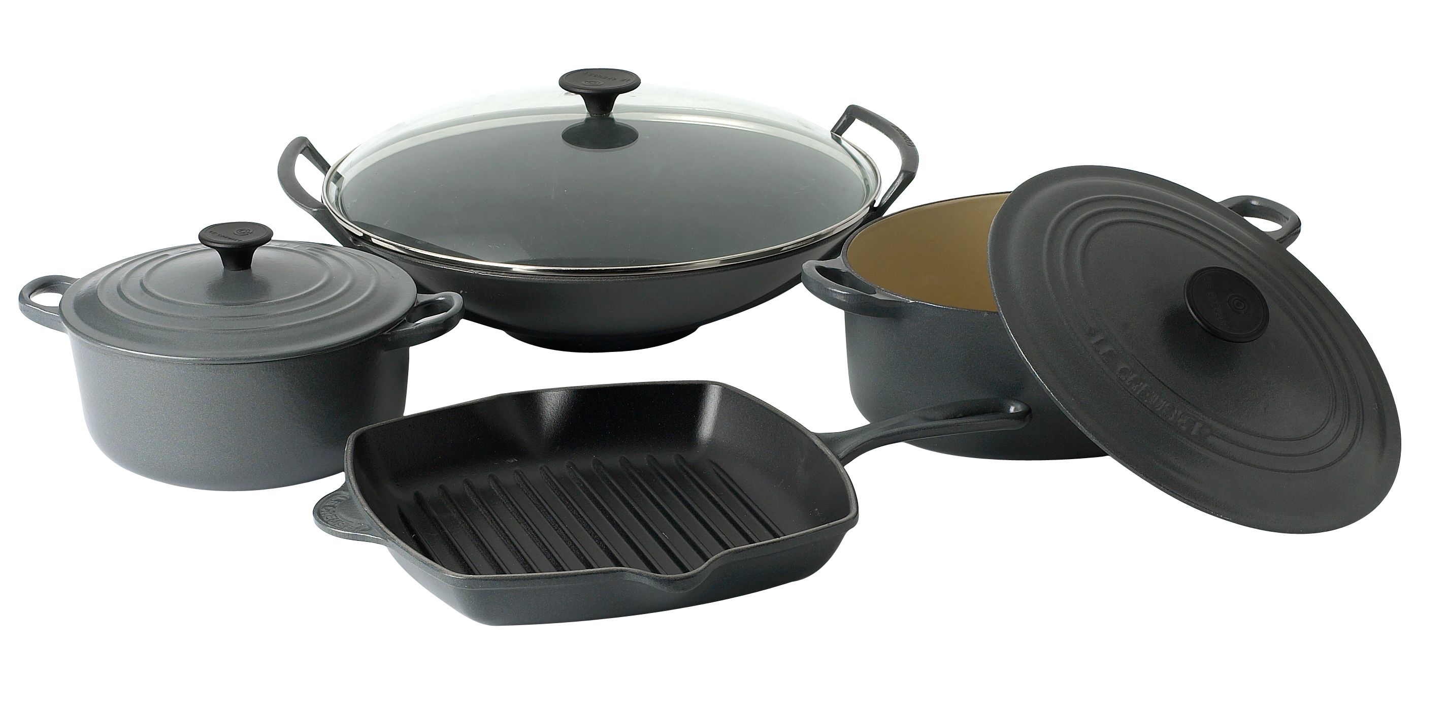 le creuset 24cm wok with glass lid review compare prices buy online. Black Bedroom Furniture Sets. Home Design Ideas