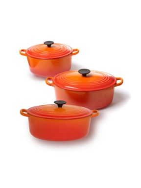 Le Creuset Cast Iron cookware in Volcanic