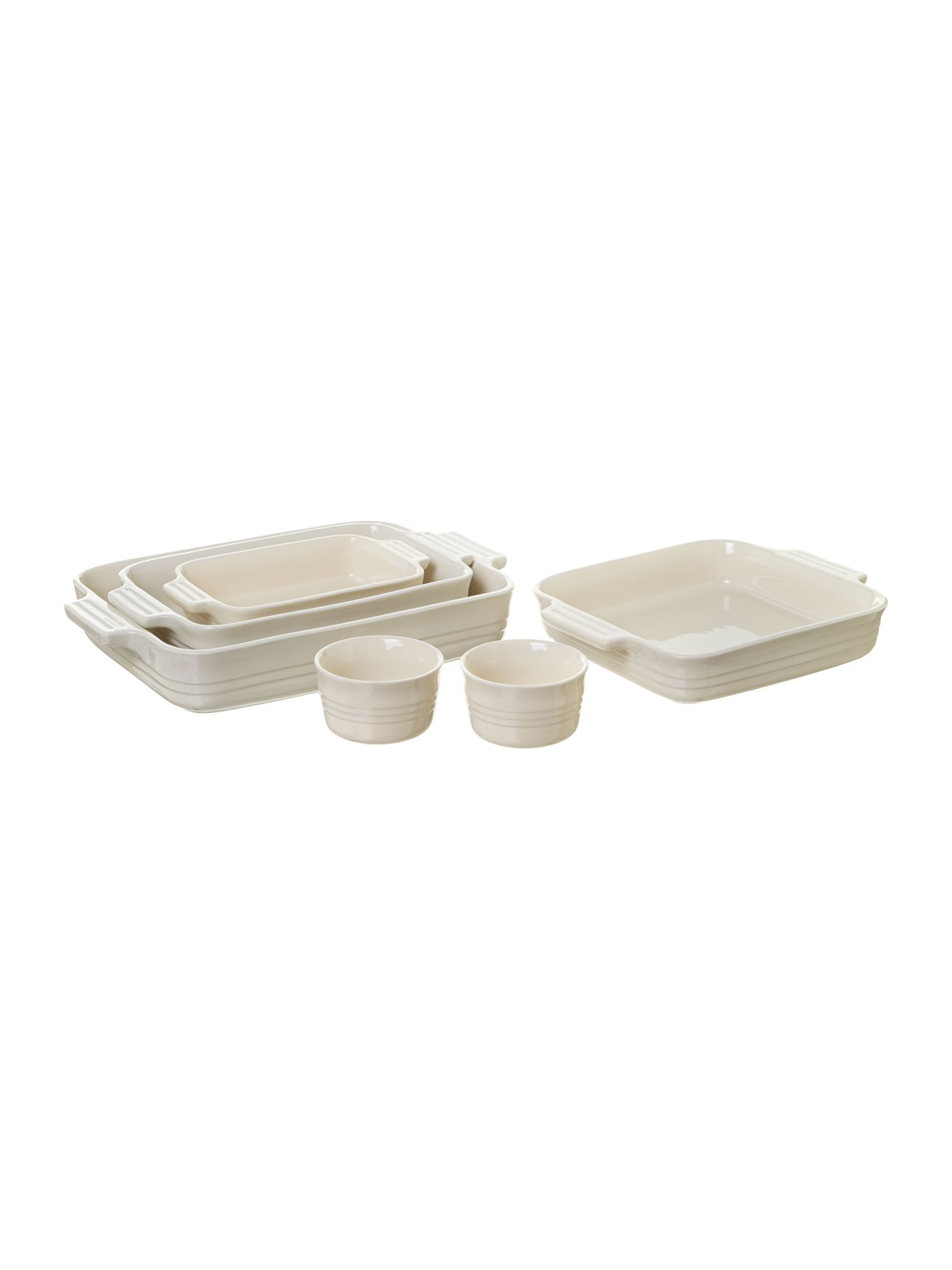 Ovenware range in Almond