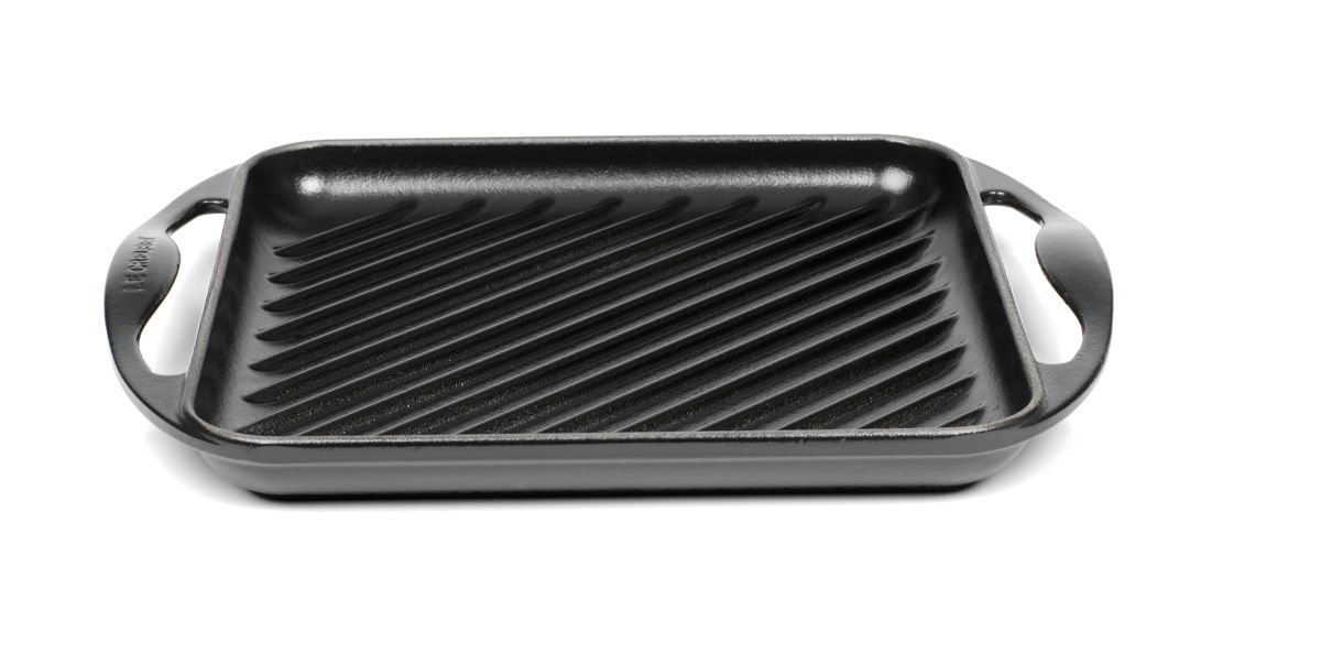 Black satin grill pans