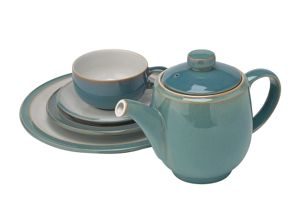Denby Azure stoneware dinnerware in Light Blue