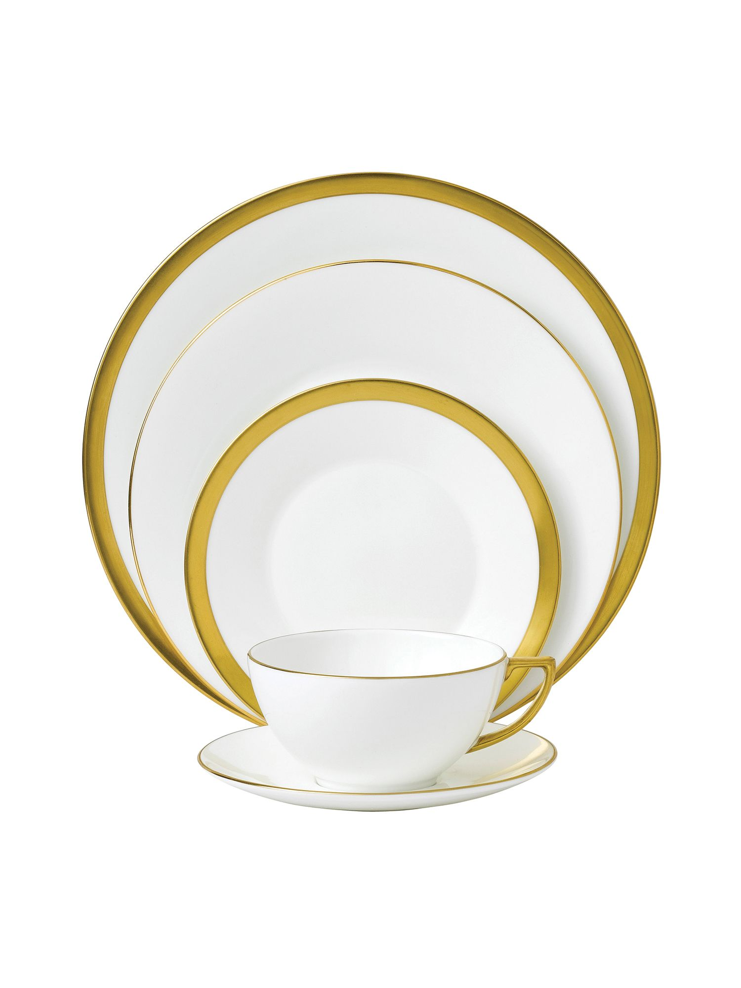 Jasper conran bone china gold pinstripe plate 27c