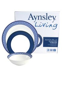 Aynsley Aston Blue Dinnerware Range
