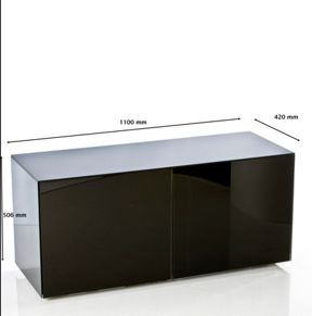 Frank Olsen High gloss black TV unit 1100 range