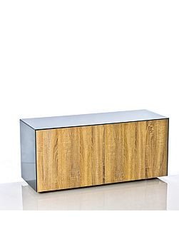Gloss grey and oak tv cabinet - home