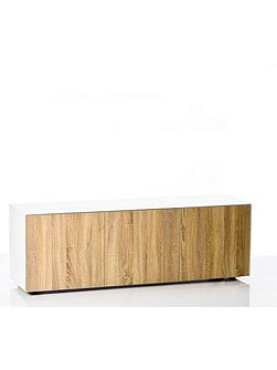 Gloss white and oak TV cabinet - Home