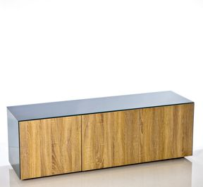 Frank Olsen High Gloss Grey/Oak TV Unit 1500 Range