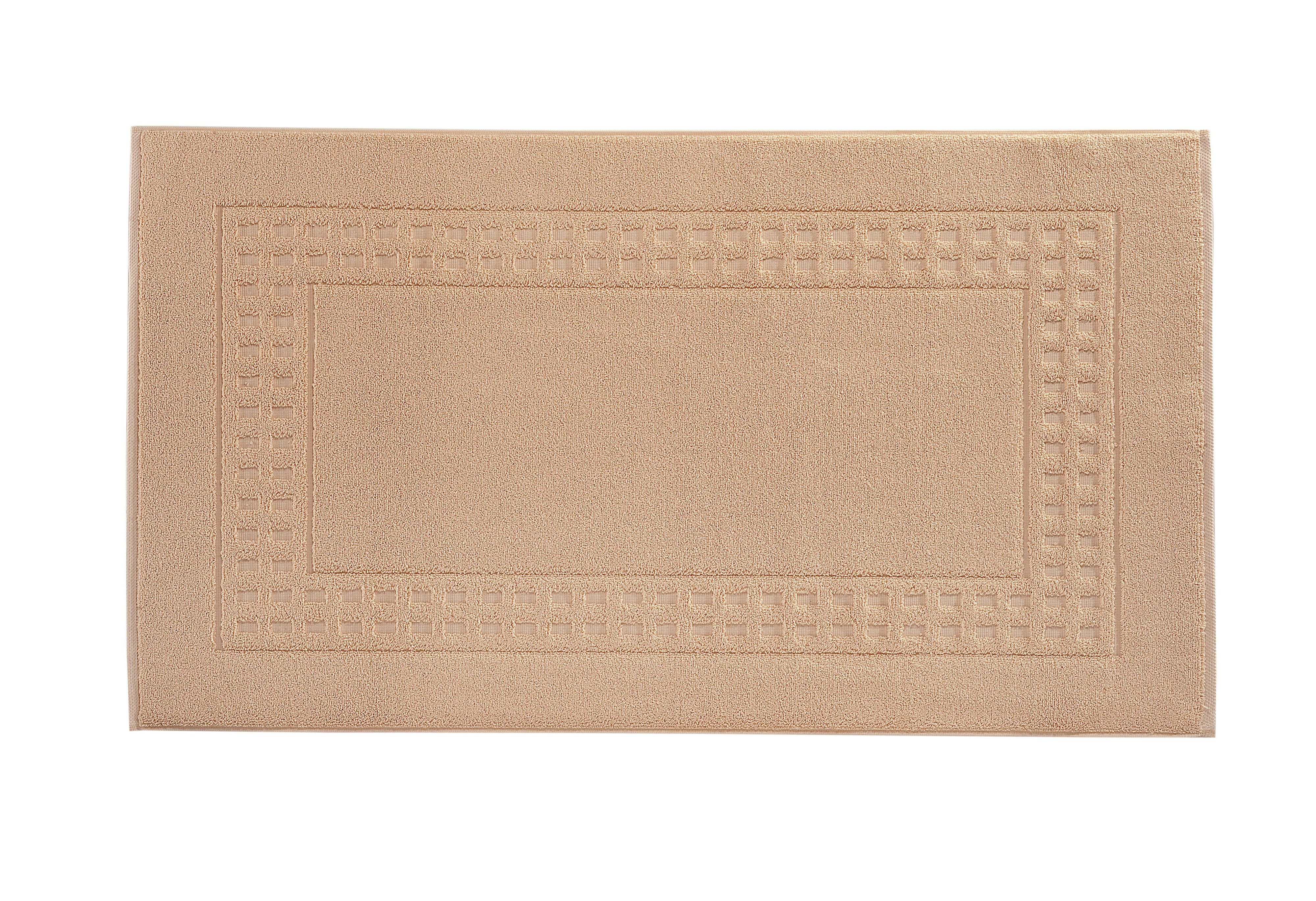 Country bath mat range in camel