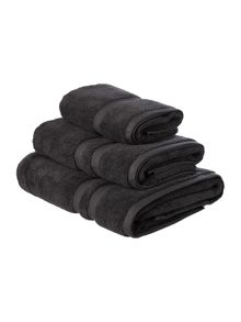 Luxury Hotel Collection 700gsm supima towel range in charcoal