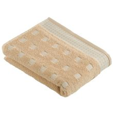 Country towel range in camel