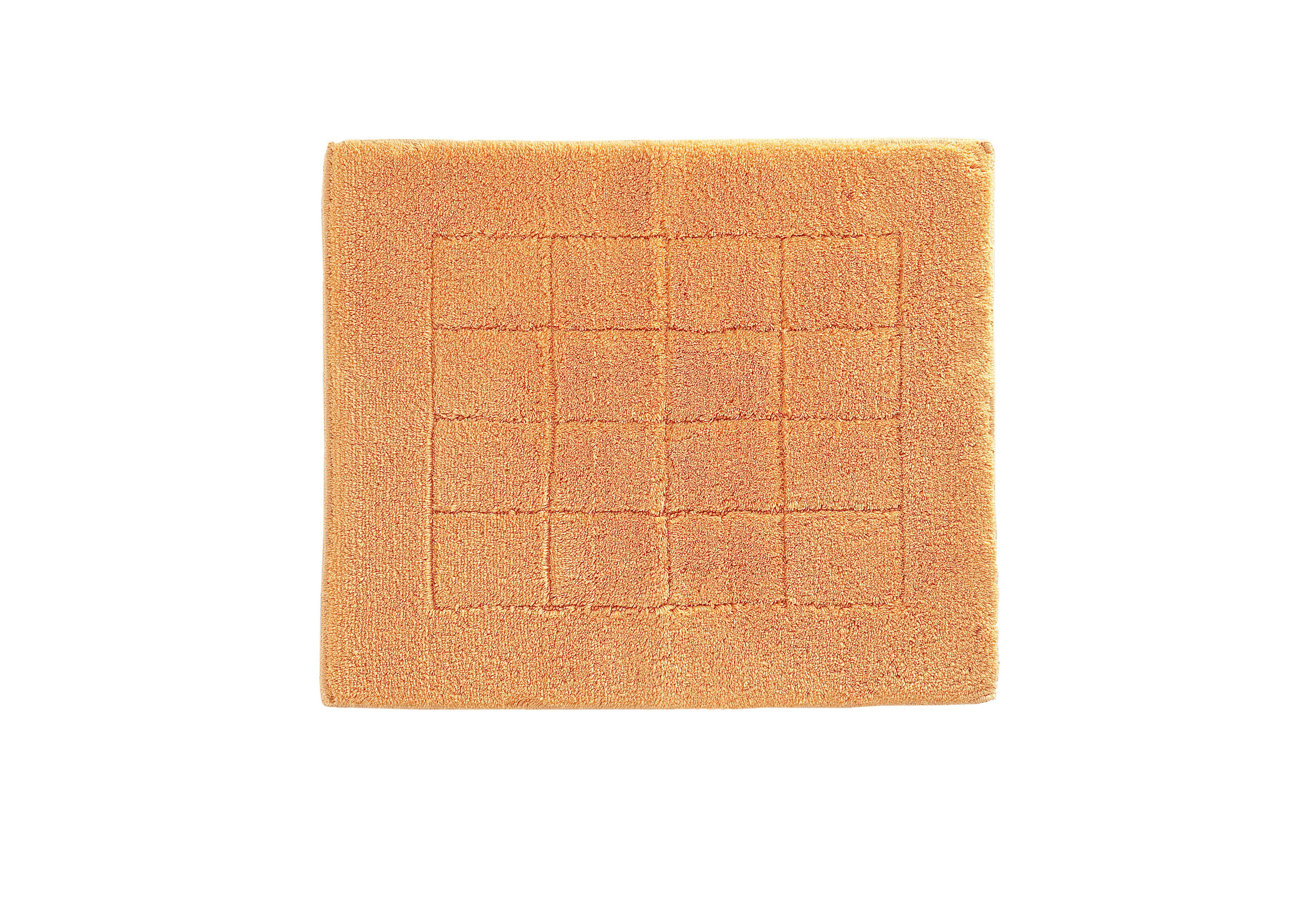 Exclusive bath mat range in apricot